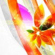 Vector abstract flower background — Stock Vector #6417869