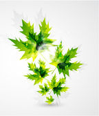 Vector leaf concept. Nature abstract symbol — Stock Vector