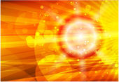 Vector orange shiny background — Stock Vector