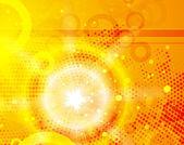 光沢のオレンジ色のベクトルの背景 — ストックベクタ