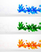 Vector leaf abstract background — Stockvector
