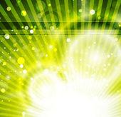 Fondo brillante verde abstracto vector — Vector de stock