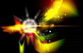 Leuchtende glänzende abstrakt — Stockvektor