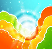 Abstract colorful clouds vector background — Stock Vector