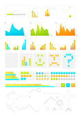 Information graph design elements — Stock Vector