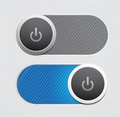 Vector power button — Stock Vector