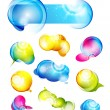 Vector colored abstract glossy bubbles — Stock Vector #6650425