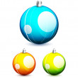 Shiny christmas balls — Stock Vector