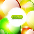 Vector glossy sphere colorful background — Stock Vector