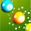 Stock Vector: Shiny christmas balls