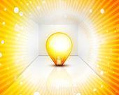 電球と光沢のある空 interioir — ストックベクタ