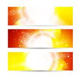Vector glanzende banners — Stockvector