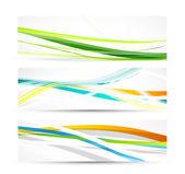 Vector banner linee astratte — Vettoriale Stock