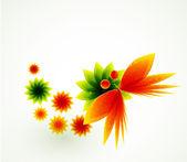 抽象花背景 — 图库矢量图片