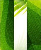 Vector green leaf texture — Stock Vector
