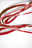 Abstract red lines vector background — Stock Vector