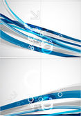 Abstract blue lines vector brochure — Stock Vector