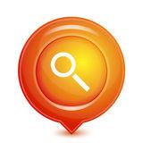 Orange vector location pointer icon — Stock Vector