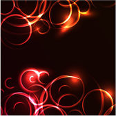 Vector abstract glowing swirl background — Wektor stockowy