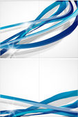 Abstract blue lines vector background — Stock Vector
