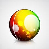 光沢のある球のカラフルなベクトルの背景 — ストックベクタ
