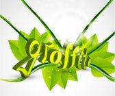 Wektor zielony natura graffiti — Wektor stockowy
