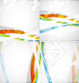 Abstract colored lines vector brochure — Stock Vector