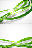 Abstract green lines vector brochure — Stock Vector