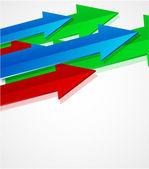 Vector arrow background — Stock Vector