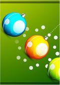 Shiny christmas balls — Stock Vector