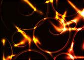Vektorové abstraktní žhnoucí spirála pozadí — Stock vektor