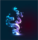 Vector abstract glowing money concept background — Stock Vector