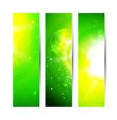 Vector abstract green shiny background — Stock Vector