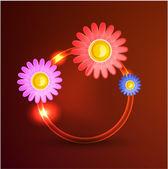 Fondo de flores abstractas — Vector de stock