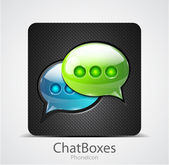 Vector chat boxes phone icon — Stock Vector