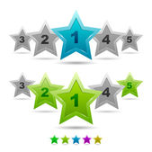 Star rating vector icons — Stock Vector