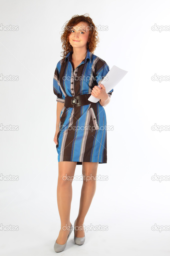 Beautiful and young girl in office clothes — Stock Photo #5781197