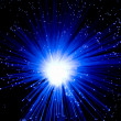 The blue optical fibres - Stockfoto