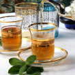 Traditional Moroccan mint tea — Stock Photo #5575902