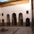 Internal courtyard in Moroccan Art museum Dar Si Said, Marrakech — Stock Photo