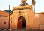 Entrance in Bahia Palace in Marrakech, Morocco — Stock Photo