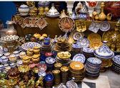 Souvenir shop in the medina of Essaouira, Morocco — Stock Photo
