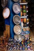 Souvenir shop in the medina of Essaouira — Stock Photo