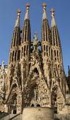Detailed view of Sagrada Familia; great work of Antonio Gaudi — Stock Photo