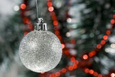 Beautiful Christmas Decoration with a ball — Stock Photo