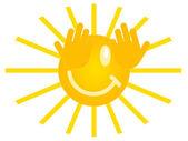 Smiling sun — Stock Photo