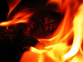 Línguas de fogo — Foto Stock