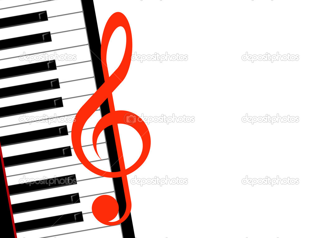 Clef de Sol Piano Treble Clef And Piano on a