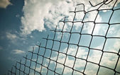 Alambre y el cielo — Foto de Stock