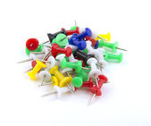 Coloured drawing pins. — Stock Photo